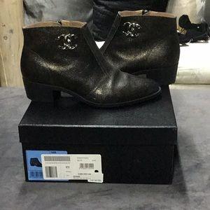 Metallic Chanel Booties